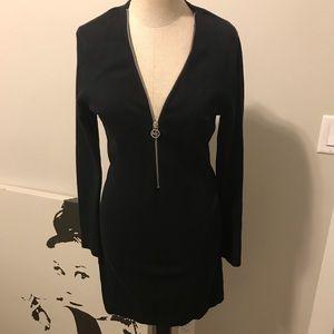 Michael Kors Front Zip Sweater Dress